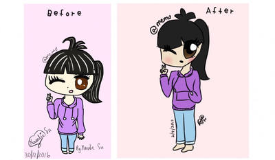 Before and After by Memo-Neko328