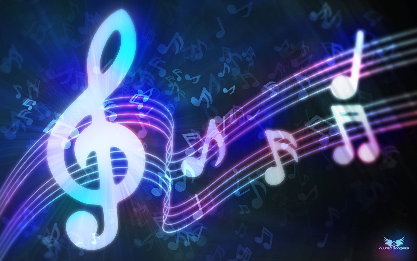 Neon Music Notes Background: Dj Music Wallpaper -The Complete Definition Of The Music