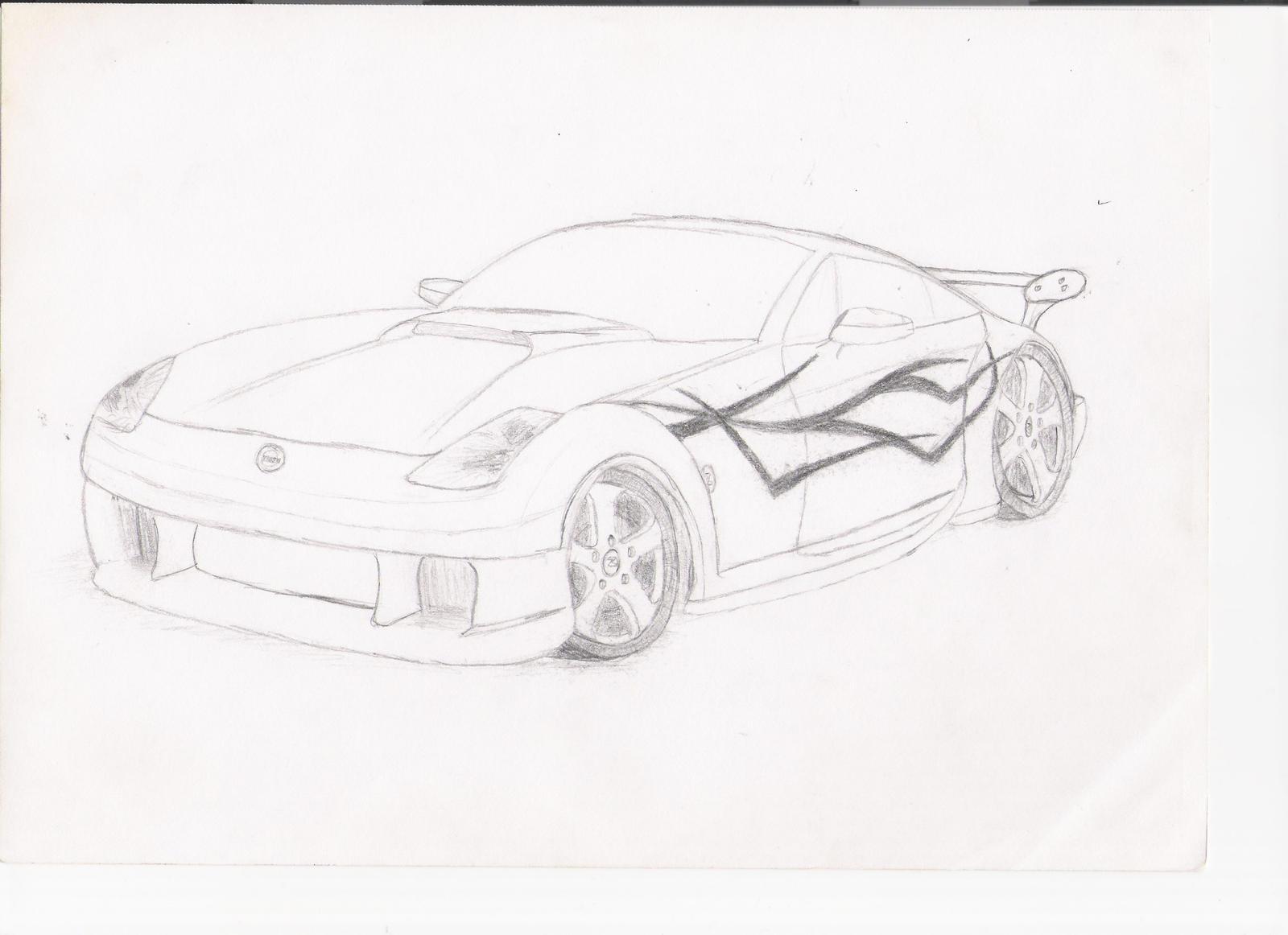 nissan 350z sketch