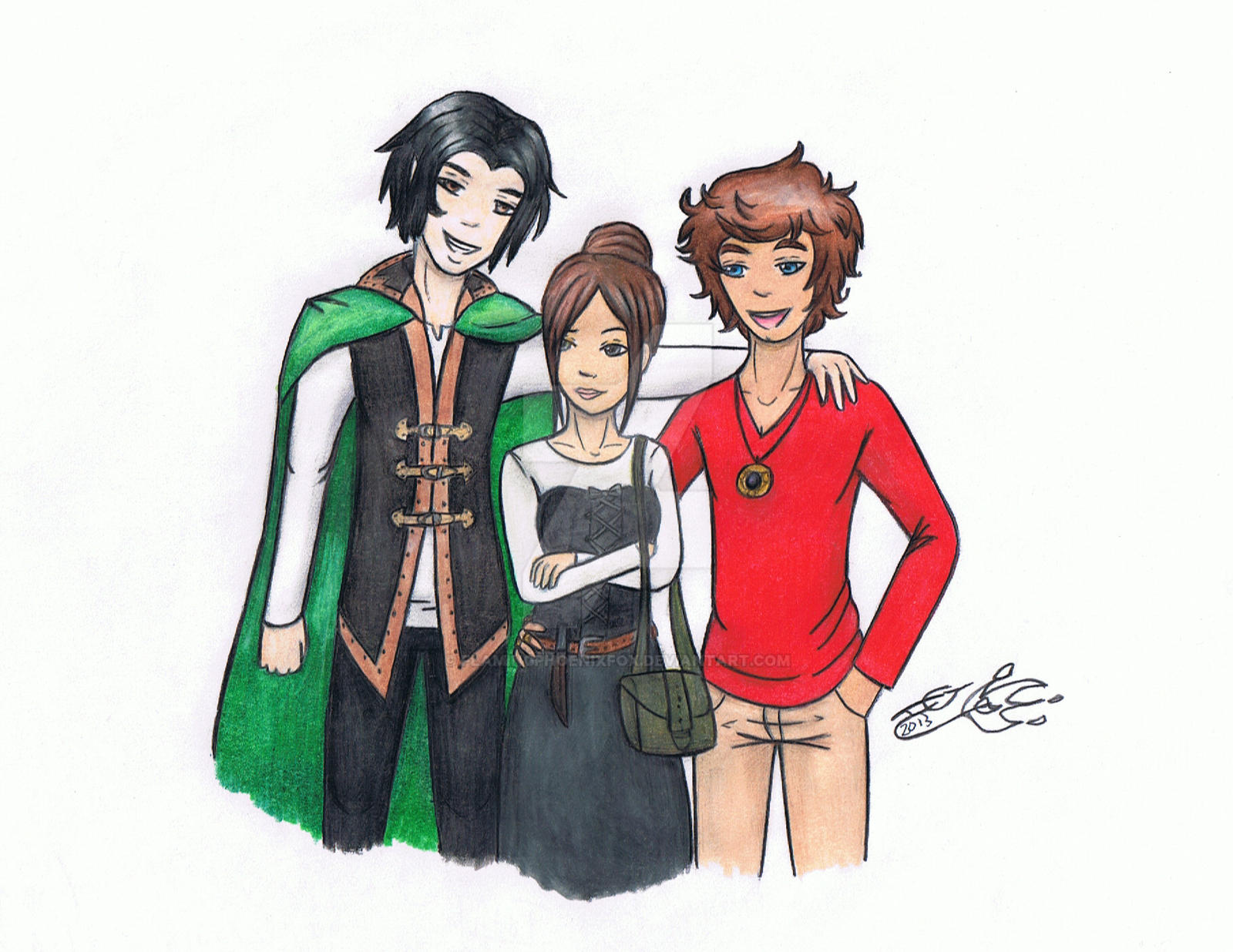Commission: Nikolai, Absynthe, and Ignis by FlamingPhoenixFox