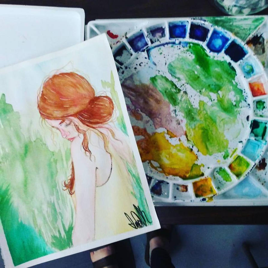 Painting with Sara Tepes by ThePhantomsWife