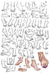 Feet study by amircea