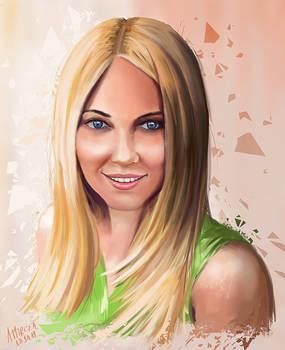 Portrait of a dear friend by amircea