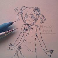 Rin [love live school idol] Lineart by nareji