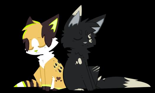 Two Little Kitties by QTipps
