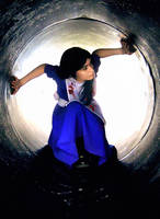 Through the tunel by SaraDarkLight
