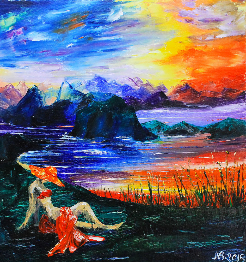 Bathing in a Summer Sunset by NataliyaBohdana