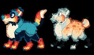 Colorful Dog Adopts 2/2 by Grumpyfart