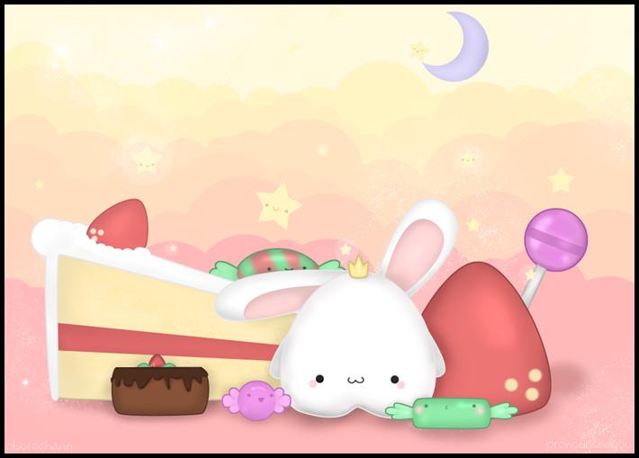 Marshmallow Bunny by pronouncedyou
