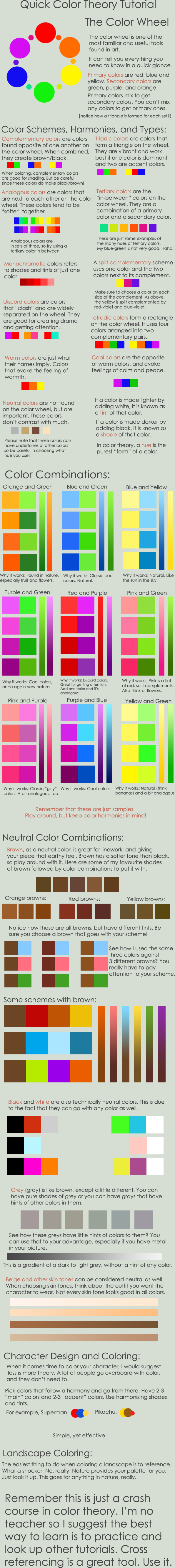 Color Theory Crash Course by pronouncedyou