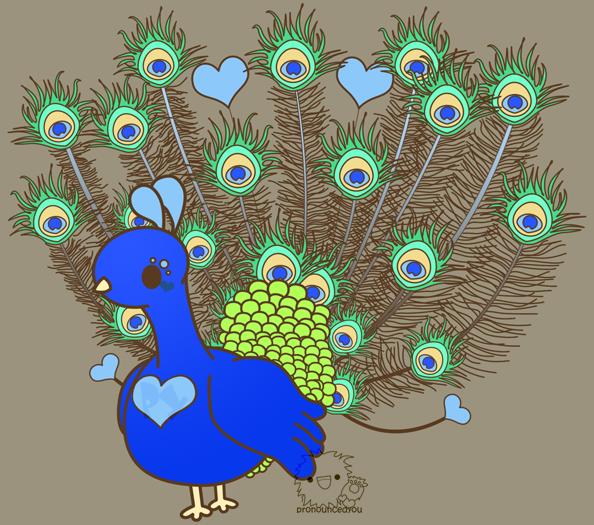 Peacock by pronouncedyou