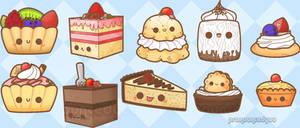 dessert doodles by pronouncedyou