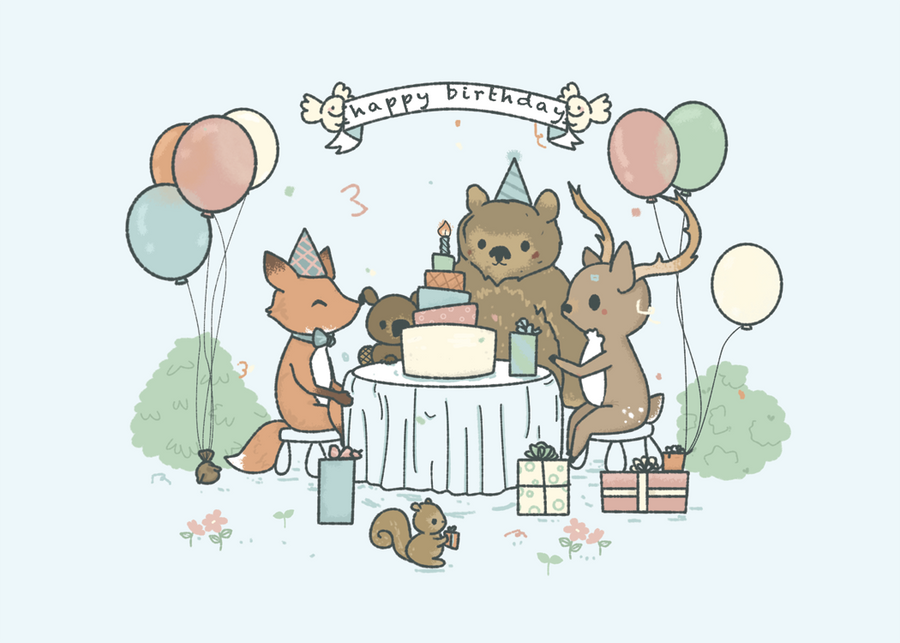 Birthday Card Forest Theme By Pronouncedyou On Deviantart
