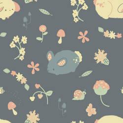 Bunny Garden Pattern by pronouncedyou