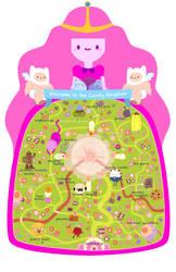 Candy Kingdom Map by pronouncedyou