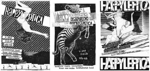 Happyleptica Party fliers by FabianMonk