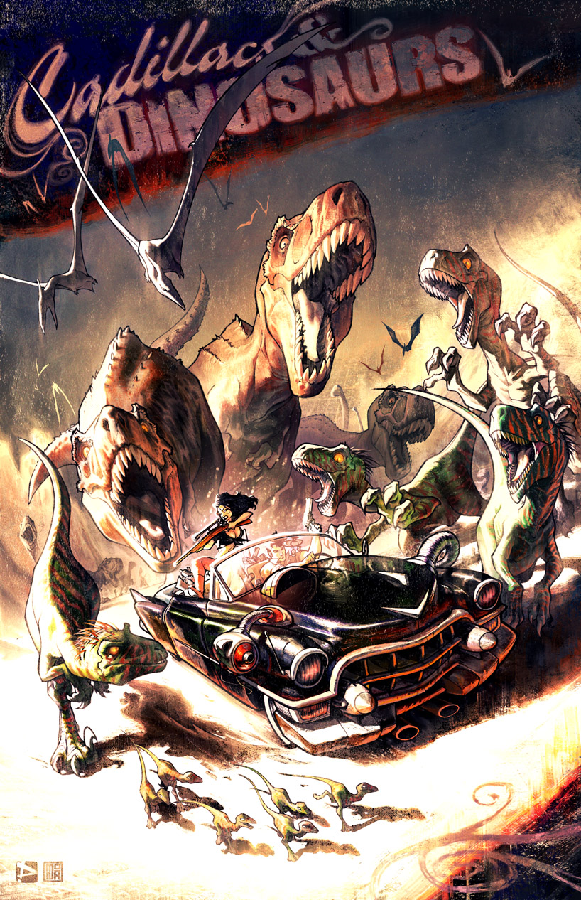 Cadillacs And Dinosaurs by FabianMonk