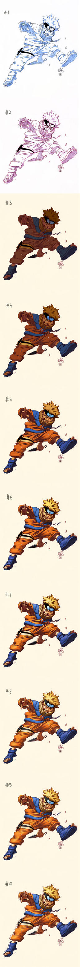 Naruto colors step by step by FabianMonk