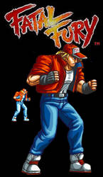 Terry Bogard HD Fatal Fury by jaredjlee