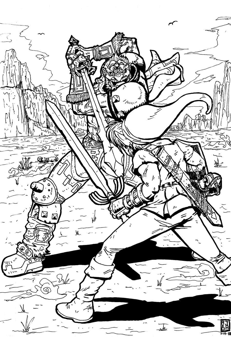 Link VS Ganondorf by jaredjlee