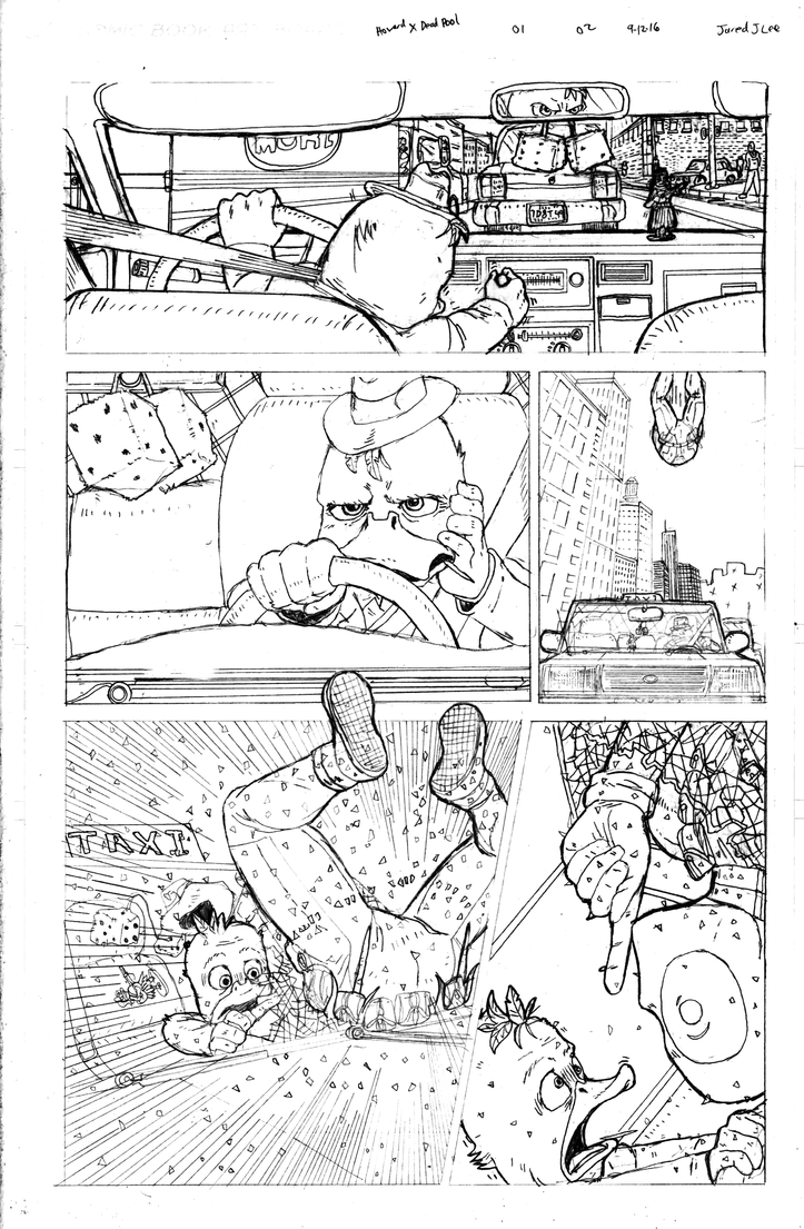 Howard the Duck X Deadpool page 02 by jaredjlee