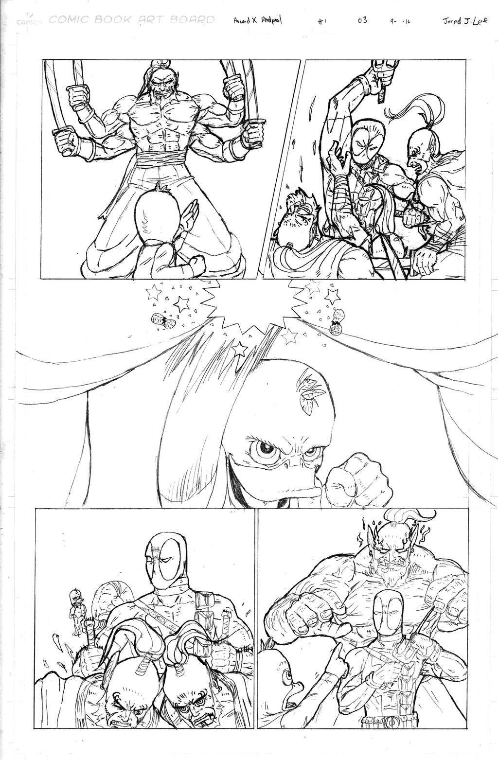 Howard the Duck X Deadpool page 03 by jaredjlee
