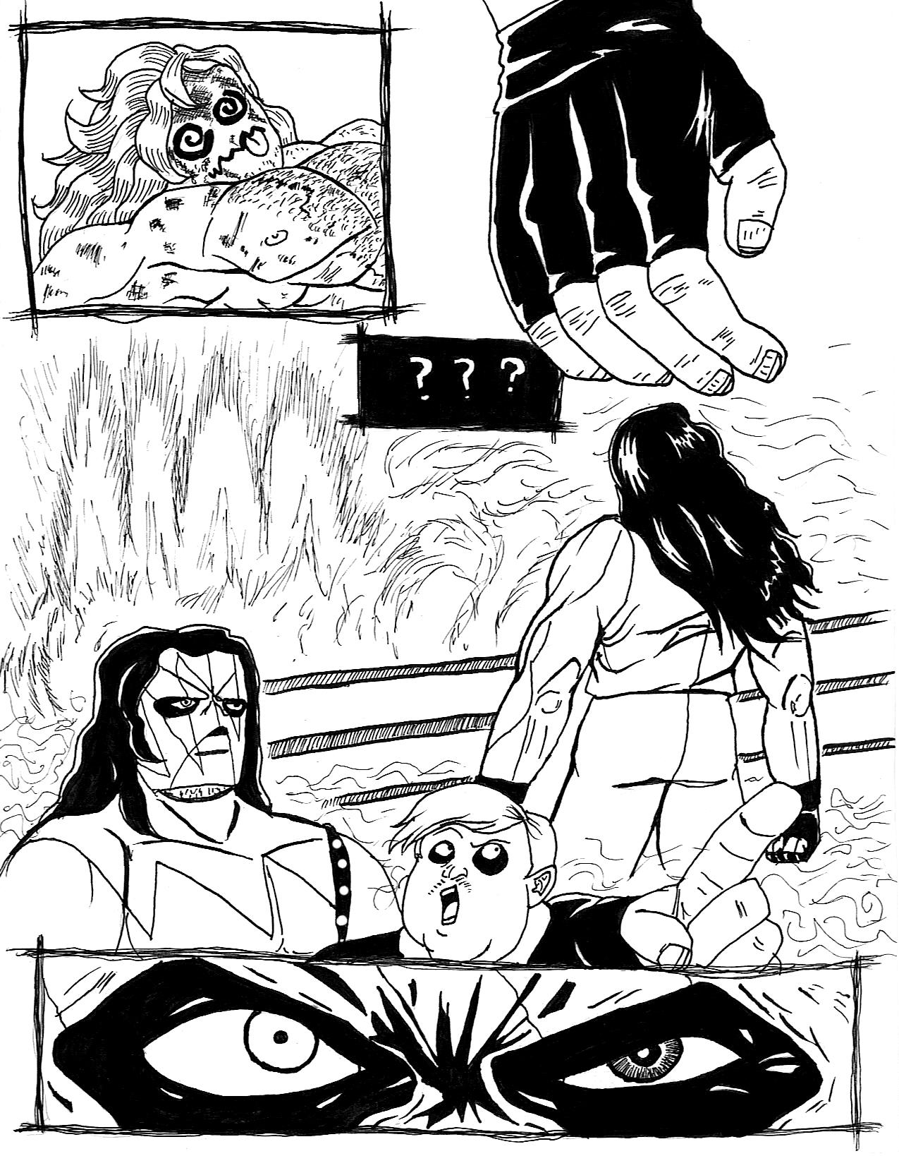 Undertaker meets kane ink by jaredjlee on deviantart for Undertaker coloring pages