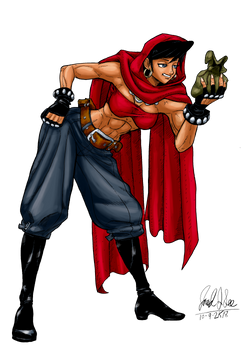 Dungeons and Dragons Thief in color