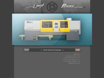 Aras machine intro industrial website by mabdesigner