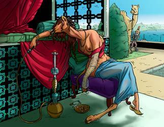 Orientalist Camel by comicTF