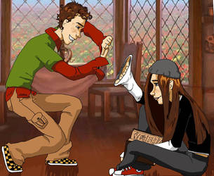 Flynn and Minnie by NinnyTreetops