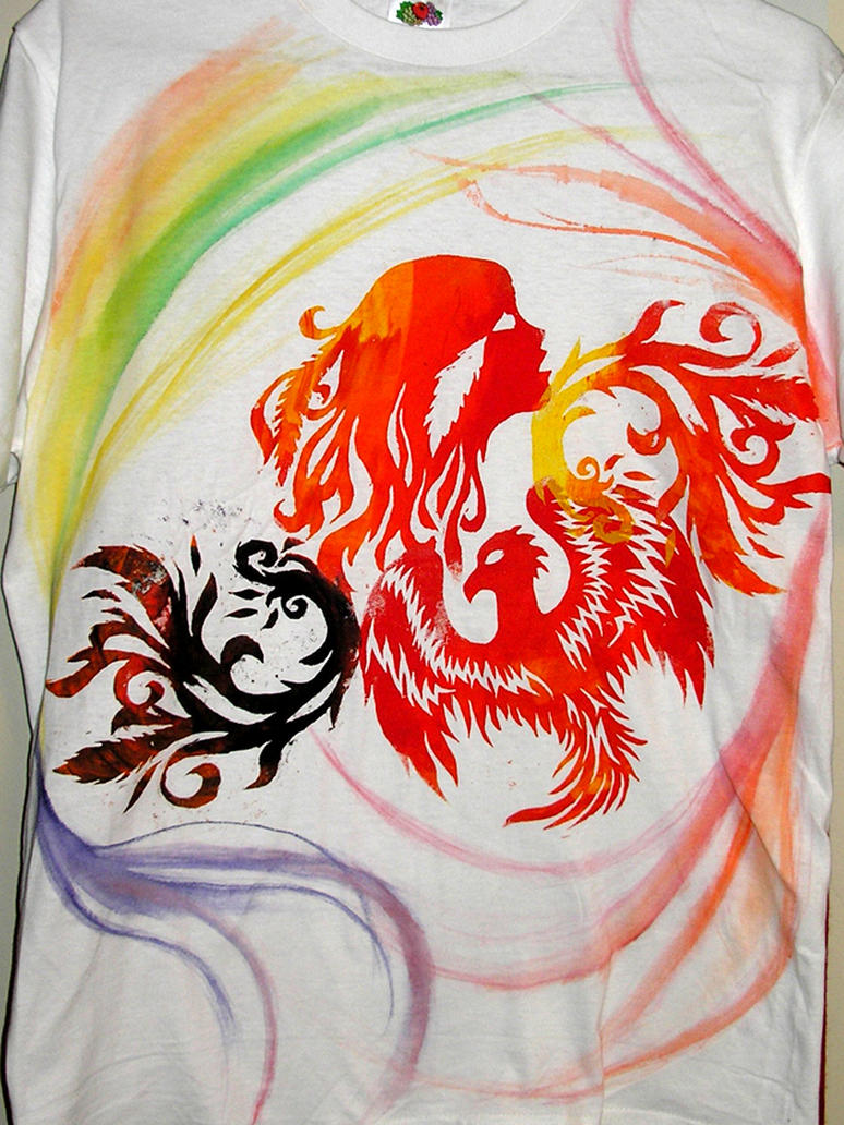 Phoenix shirt by aeternus spero on deviantart for T shirt screen printing phoenix