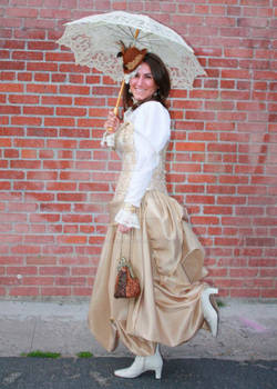 My steampunk bride with a victorian flare!