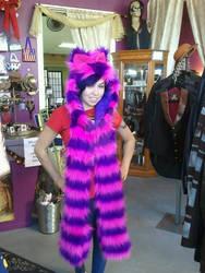 Pink and purple cat hood custom ordered
