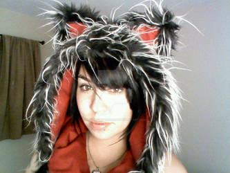Custom Wolf Hooded Scarf