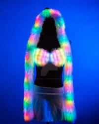 Light up programmable bra and hooded scarf!
