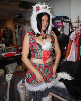 Sexy Christmas Kitty Custom Order!