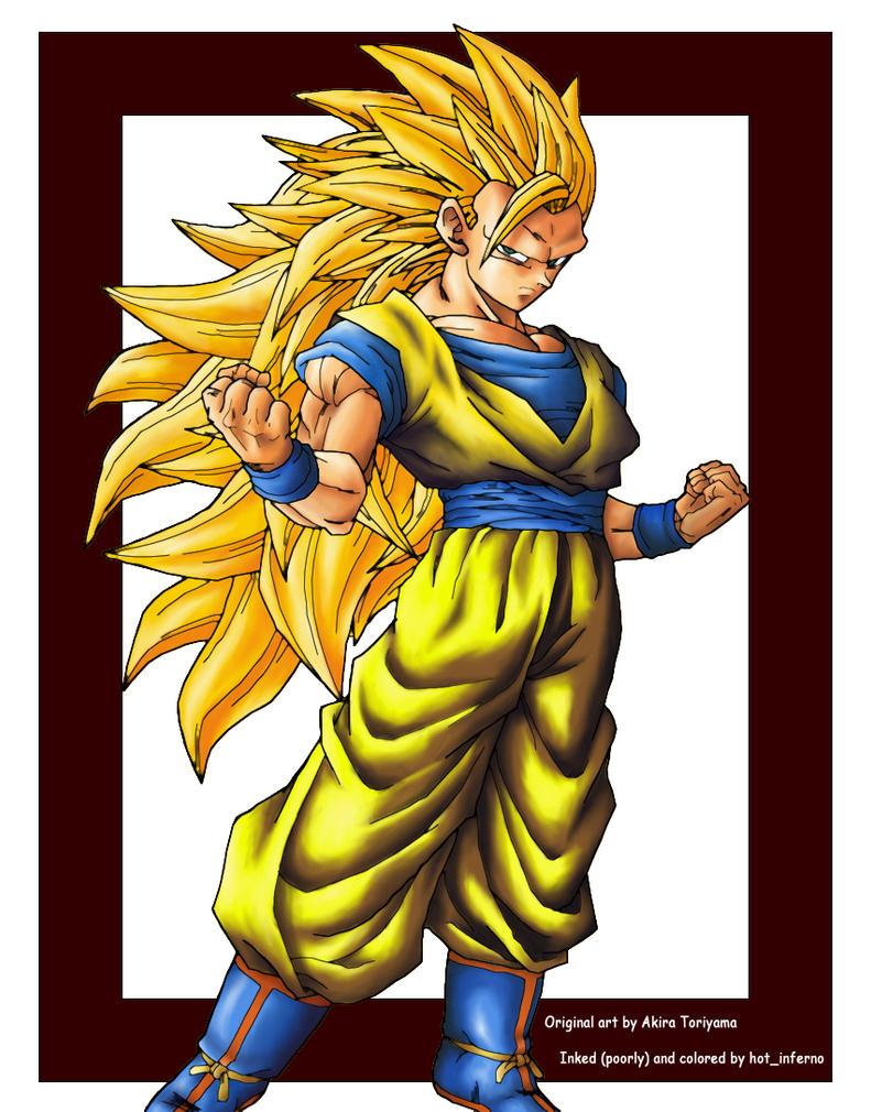 Goku SSJ3 by hotinferno
