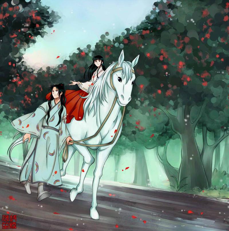 Inuyasha Jakotsu And Naraku: Inuyasha -Kikyo And Naraku By PangurBann On DeviantArt
