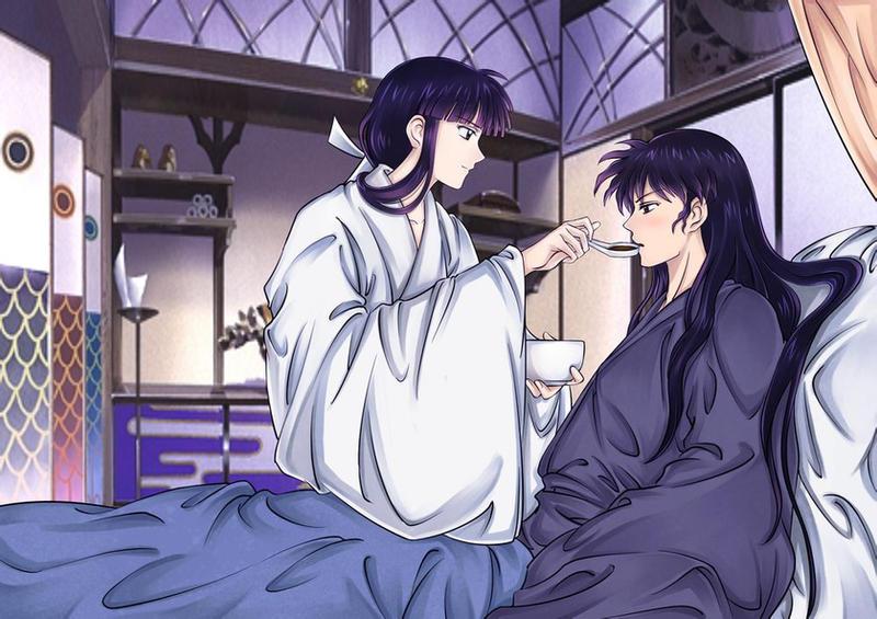 Inuyasha Kikyo And Naraku By PangurBann