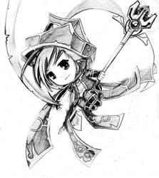 Phantom Mage Chibi by Handsomeushi