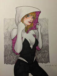 Spider-Gwen by amonkeyonacid