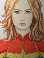 Brie Larson as Captain Marvel by amonkeyonacid