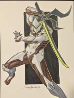 Genji from Overwatch by amonkeyonacid