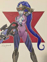 Widowmaker from Overwatch by amonkeyonacid