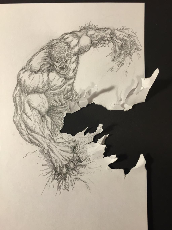 Hulk - Torn Paper by amonkeyonacid