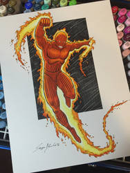 Human Torch by amonkeyonacid