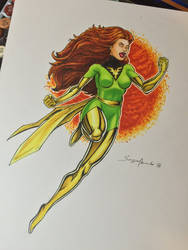 Jean Grey / Phoenix by amonkeyonacid
