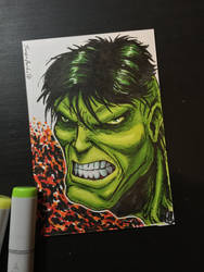 Hulk Sketch Card by amonkeyonacid