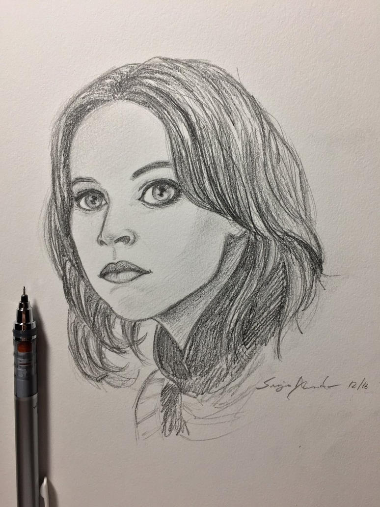 Jyn Erso sketch by amonkeyonacid